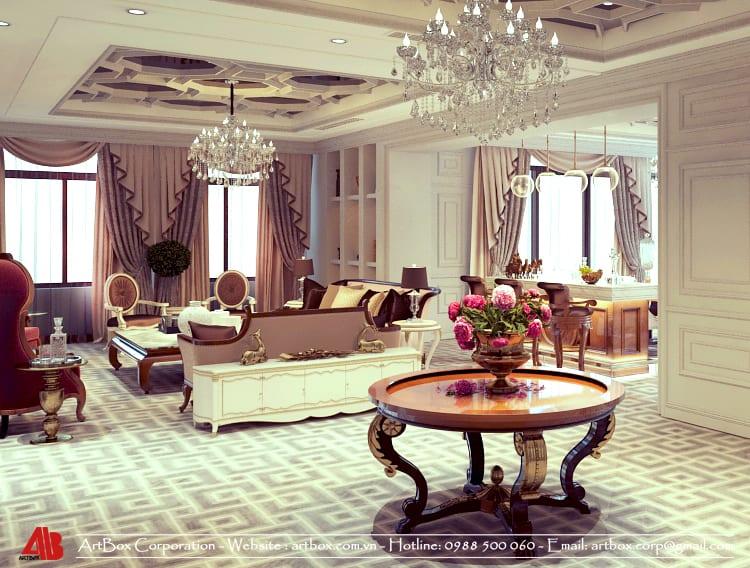 những điều cần thiết kế nội thất trong nhà căn hộ theo phong cách cổ điển